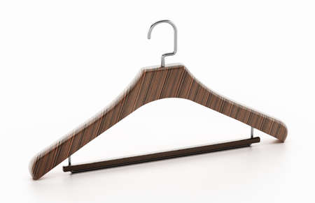 Clothes-hanger isolated on white background. 3D illustration.