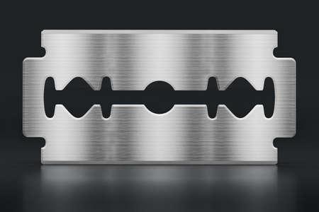 Razor blade isolated on black background. 3D illustration. Stockfoto