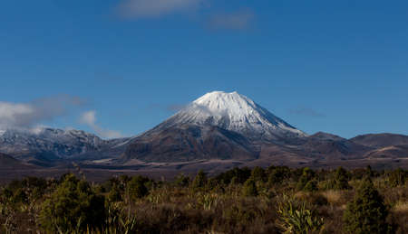 Mt. Ngauruhoe, as a part of Tongariro Alpine Crosing Track. It is the most visited tourists and trampers destination in The North Island, New Zealand.