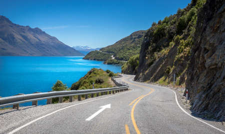The Devils Staircase view point, Queenstown  New Zealand Stock Photo