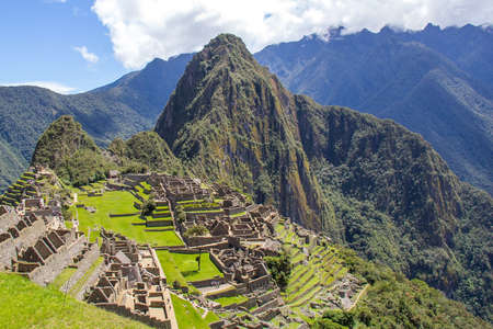 Machu Picchu, A UNESCO World Heritage Site in 1983. One of the New Seven Wonders of the World in Peru. Editorial