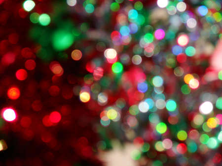 Festive, multi color, blurred bokeh makes a fun background. Stock Photo