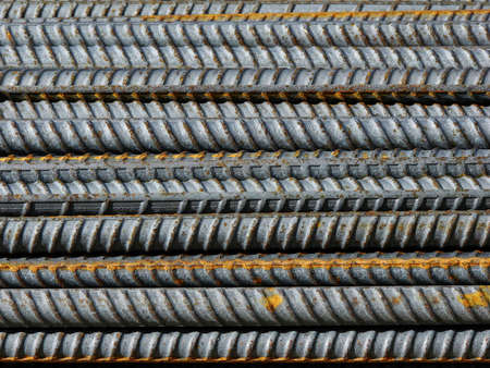 Steel Rebar rods, used to reinforce concrete forms