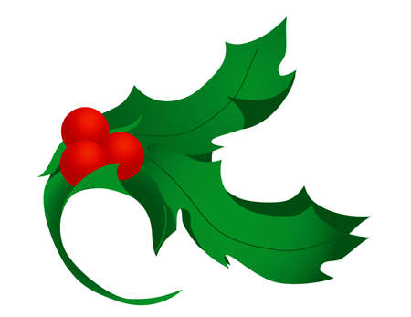 Stylized holly leaves and berries. Excellent for corner flourishes.