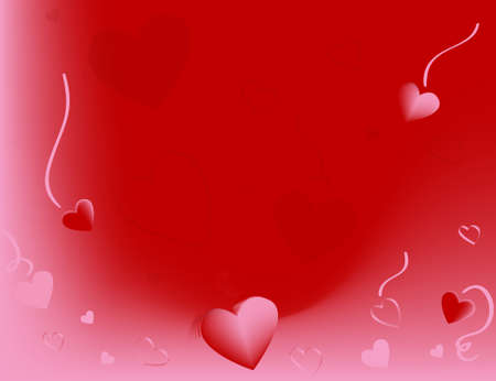 陽気な赤とピンクの背景。バレンタインデーのプロモーションに最適です。 写真素材