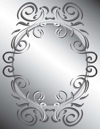 silver frame: A simple decorative background.