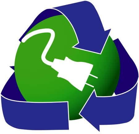 Icon depicting renewable energy.