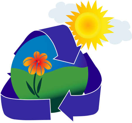An icon depicting a healthy environment. Stock Photo