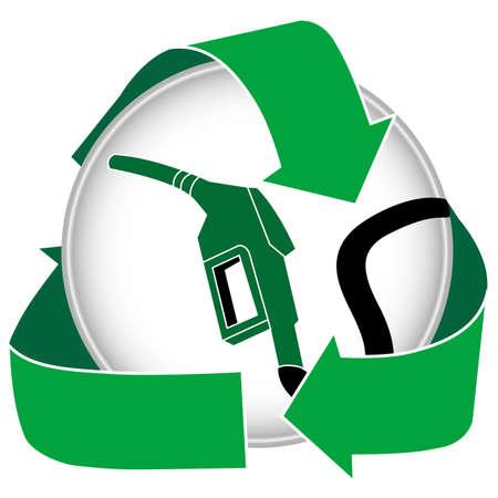 An eco friendly gasoline or bio diesel icon. photo