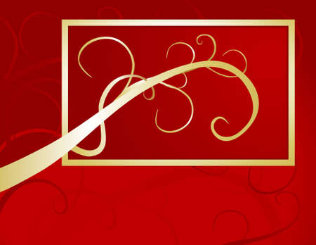 An elegant golden pattern decorates this rich golden background. Ideal for covers, seasonal invitations or menus.