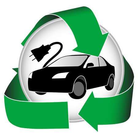 ecosistema: Icono de coche el�ctrico