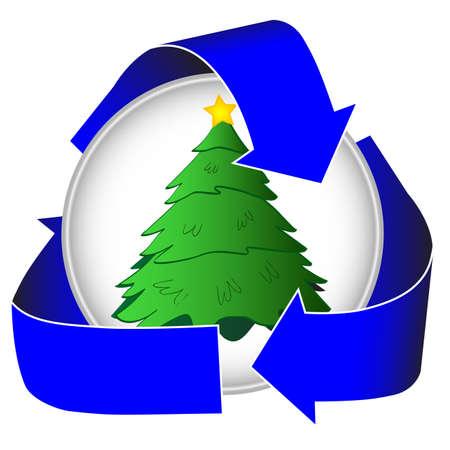 クリスマス ツリーのリサイクル アイコン 写真素材