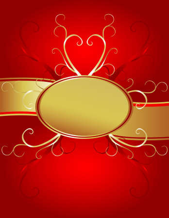 Rich, red and gold background suitable for celebrations, valentines and weddings.