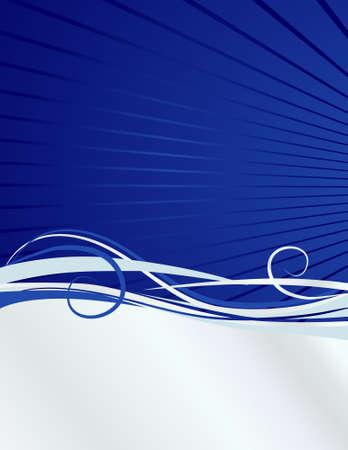 ダイナミックなモダンなライン hilight この青と銀の背景。