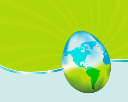 Celebrate Earth Day with this vibrant background. Features a glass earth egg. Similar images in my portfolio.