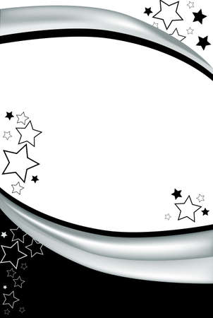 This clean black and white background can be converted to almost any use. A modern celebration background with stars and gradient stripes.