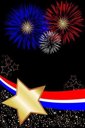 Vieren onafhankelijkheid dag, veteranen dag of zelfs Memorial Day met deze patriottische achtergrond.