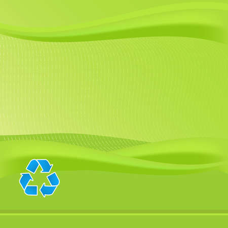 Vibrant Green report cover template. Features blue recycle logo. Various eco friendly concepts can be promotoed with this background.
