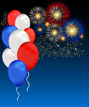 Independence day, memorial day or other patriotic events can be celebrated with this illustration.