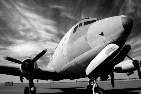 Vintage aircraft B&W Stock Photo - 458044