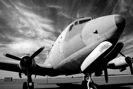 bw: Vintage aircraft B&W
