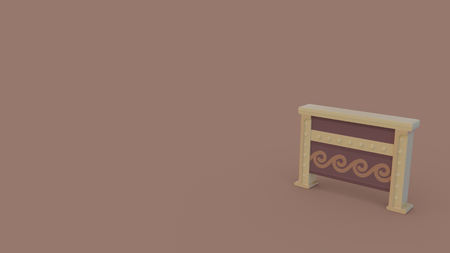 3d icon of ancient chest isolated on light brown background Banque d'images - 115524875