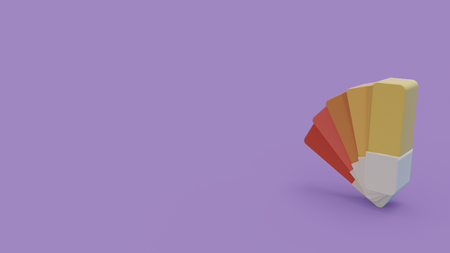 3d icon of color sampler isolated on purple background Reklamní fotografie - 116013589