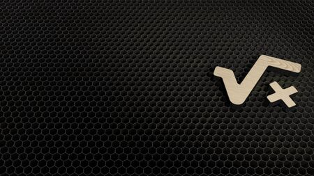 laser cut plywood 3d symbol of root and letter x render on metal honeycomb inside laser engraving machine background 版權商用圖片