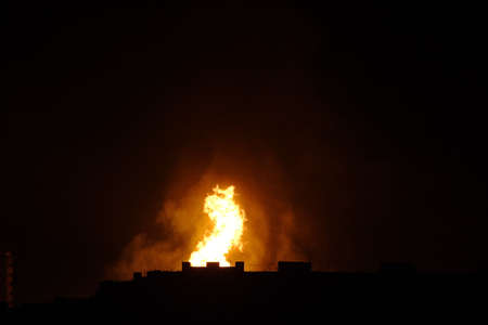 conflagration: An explosion of gas pipeline in Moscow. 10.05.2009