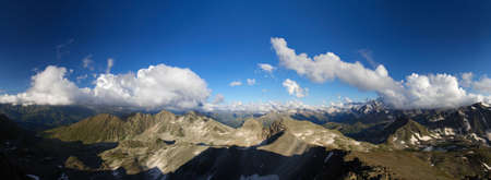 Evening in the mountains. Panorama ~180� from 11 files. photo