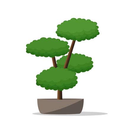 flowerpots: Decorative Plant on Pot.Artistic Flowerpot Vector Illustration.