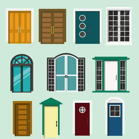 Various Front Door Design For Houses And Buildingt Of Colorful