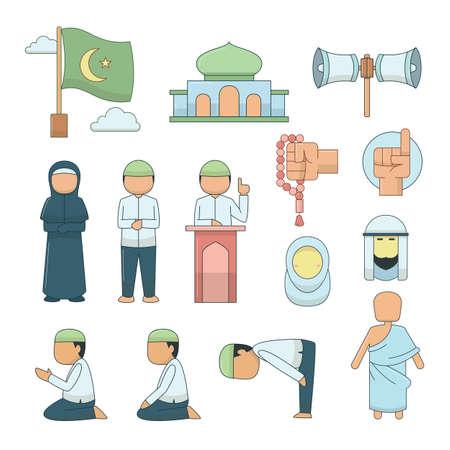Vector Islamic icons set.