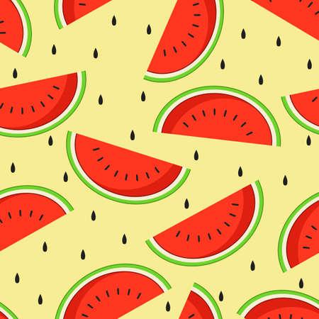 Watermelon background seamless pattern.