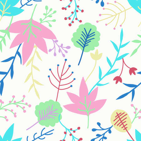 Cute floral seamless pattern, colourful flowers background. Stock Illustratie