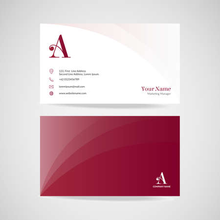 Modern simple business card name design template, vector illustration.