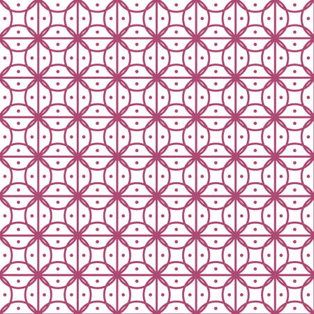 Vector seamless background with squares and circles.