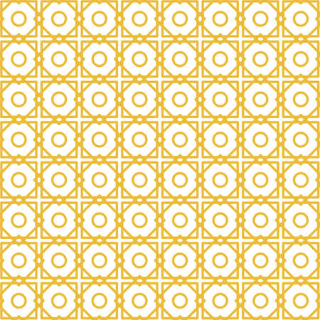 Geometric seamless pattern with rhombuses and circles. Illustration