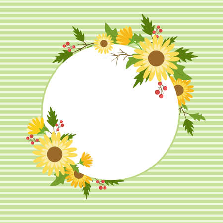 Floral frame template for wedding invitation, greeting card, and banner.