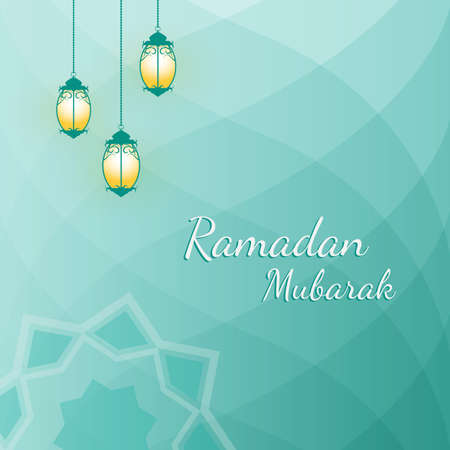 Ramadan Mubarak greeting background.
