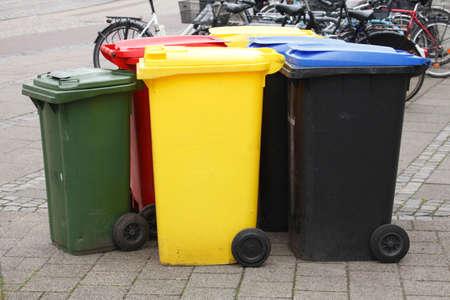 다채로운 재활용 쓰레기통, 브레멘, 독일