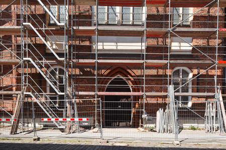 dom: Greifswalder Dom, Construction Site, Germany, Europe