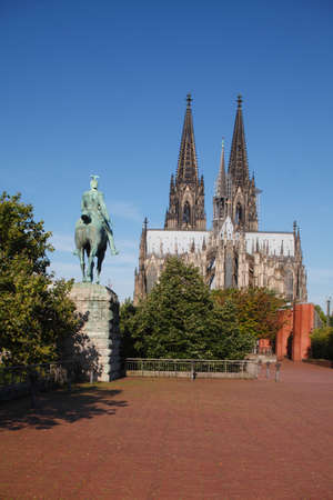 Cathedral and monument of Kaiser Wilhelm II., Cologne, Germany