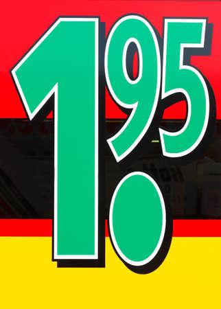 Price Tag 1,95 Euro