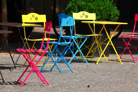 chairs: colorful chairs Stock Photo