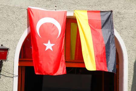 Turkish and German Flags Reklamní fotografie