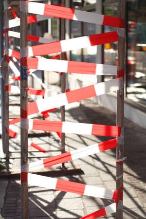 site: Construction site barrier tape