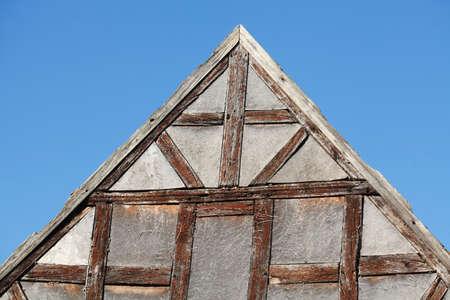 gable on a half-timbered house