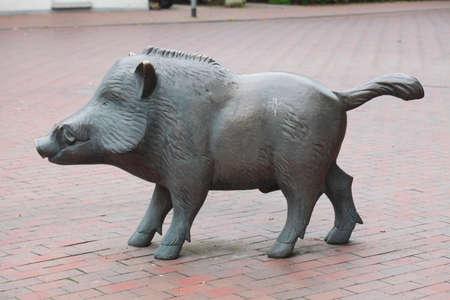 wild boar: Skulpture of a Wild Boar