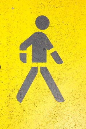 strret: Yellow Strret Mark Pedestrian